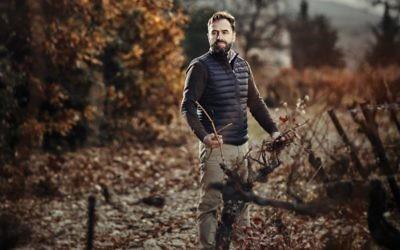 Frederic David in his Rhone Valley vineyard.
