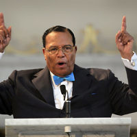 Minister Louis Farrakhan, leader of the Nation of Islam, makes a point while speaking at a press conference at Mosque Maryam on March 31, 2011 in Chicago, Illinois. The Nation Of Islam leader has been known to promote anti-Semitic hate rhetoric. Getty Images
