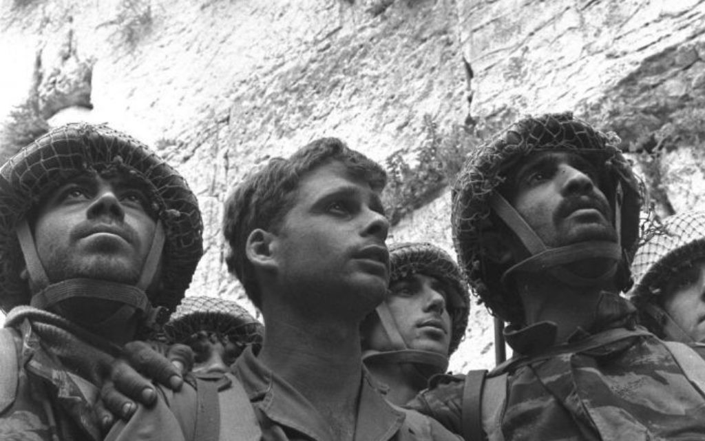 Israeli soldiers pray at the Western Wall June 7, 1967. This iconic photo by David Rubinger became famous as a symbol of the Six Day War victory. David Rubinger/Getty Images
