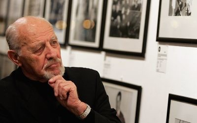 Photographer David Rubinger is seen at Eretz Israel: The Birth Of A Nation Private View, a collection of his prints in London, England on February 23, 2006 . Gareth Cattermole/Getty Images