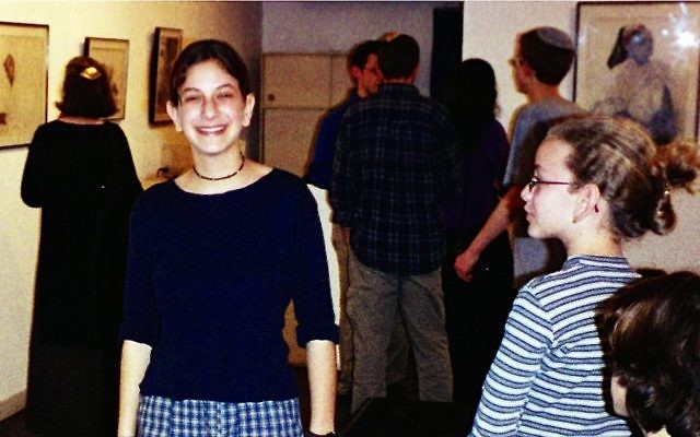 Malki Roth, shown here at her mother's art show four months before she was killed in the August 2001 suicide bombing at a Jerusalem Sbarro. VIA KERENMALKI.ORG