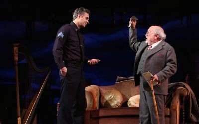 "Mark Ruffalo and Danny DeVito in a scene from ""The Price."" Courtesy of Joan Marcus"