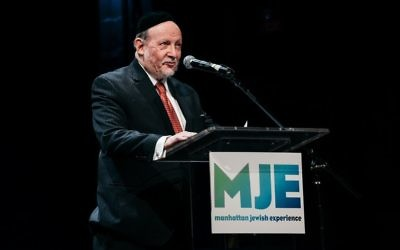 Rabbi Ephraim Buchwald Received Rabbinic Leadership Award at Annual Dinner for Prominent Work in Jewish Outreach Programs. Courtesy of Pako Dominguez