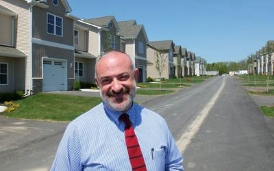 Developer Shalom Lamm at his Bloomingburg development. Michael Datikash/JW
