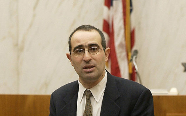 Gideon Taylor, chair of operations for the World Jewish Restitution Organization, speaks at a US federal court in New York, in 2005. Getty Images