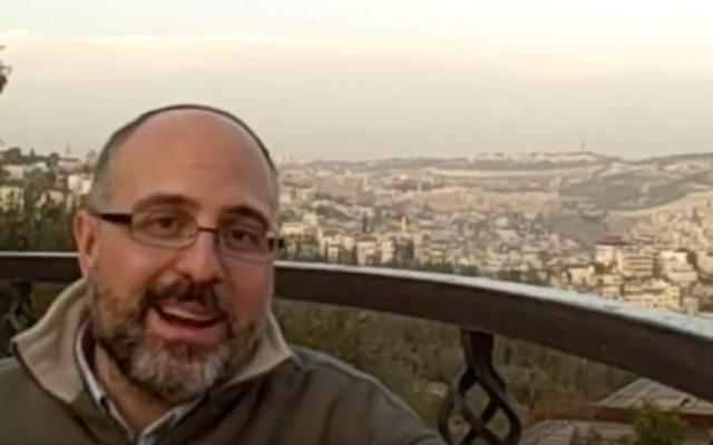 Rabbi Hyim Shafner (Screenshot from YouTube)