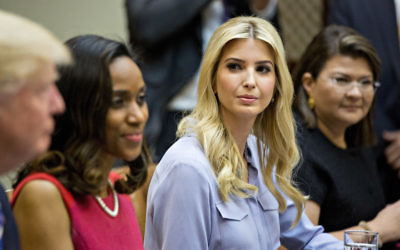Ivanka Trump at a meeting with women small business owners in the Roosevelt Room of the White House, March 27, 2017. (Andrew Harrer-Pool/Getty Images)