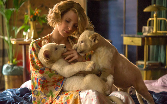 "Jessica Chastain as Antonina Zabinski in ""The Zookeeper's Wife."" (Anne Marie Fox / Focus Features)"