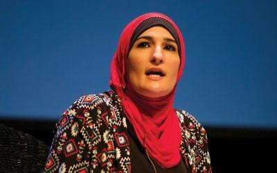 Palestinian-American activist Linda Sarsour.