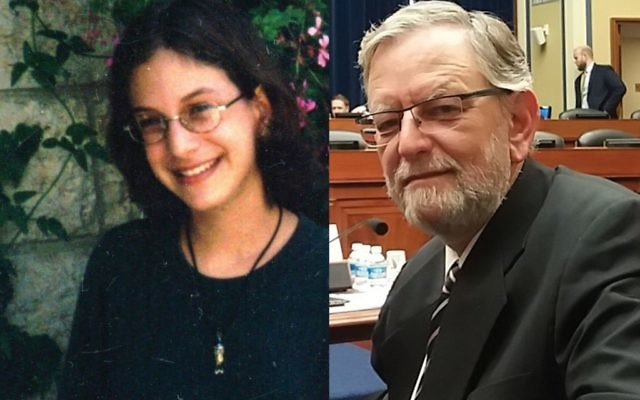 Malki Roth, left, was 15 when she and 14 others were killed in a suicide bomb attack at a Sbarro restaurant in Jerusalem in 2001. Her father, Arnold Roth, has been waging a long battle for the extradition of the bomber's accomplice. Photos courtesy of Arnold Roth