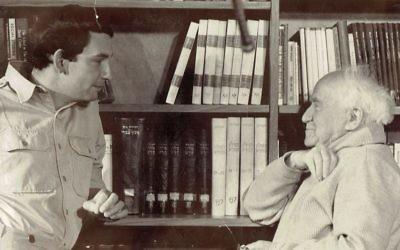 Clinton Bailey with David Ben-Gurion in Sde Boker. Courtesy of Clinton Bailey