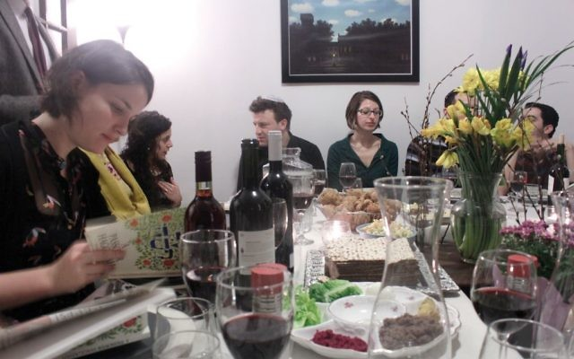 The In-between Son (and Daughter): An Israeli-American Passover seder hosted by the group 100 Chairs. Elad Kabilio