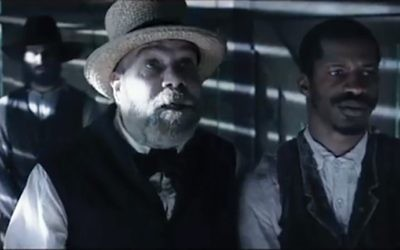 "Jason Stuart, left, portrayed racist slave owner Joseph Randall in the 2016 film, ""The Birth of a Nation."" PHOTOS COURTESY JASON STUART"