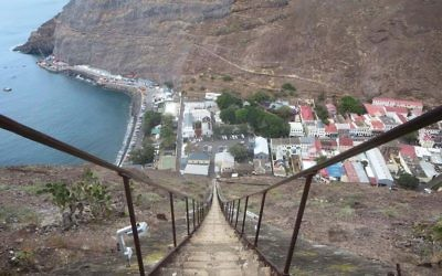 The 699-step Jacob's ladder in Jamestown is a mountainside highlight of the capital of St. Helena. Wikimedia Commons