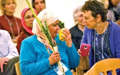 Jews and Muslims at AJC Westchester Sukkot event. Courtesy of AJC Westchester