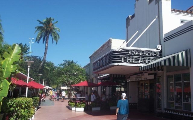 The restored Colony Theatre in South Beach.