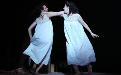 "Katrina Lenk as Manke, left, and Adina Verson as Rivkele in Paula Vogel's ""Indecent."""