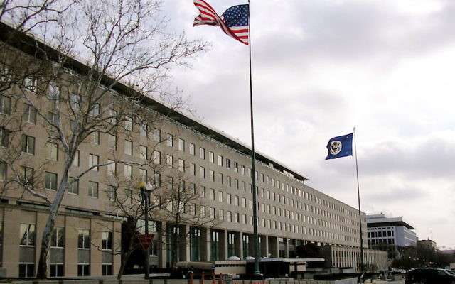 A view of the State Department building in Washington, D.C. JTA