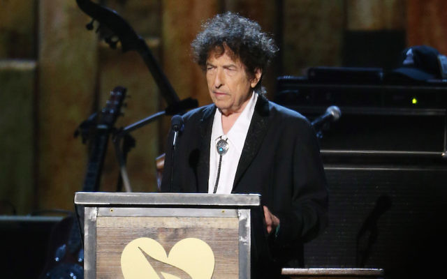 LOS ANGELES, CA - FEBRUARY 06:  Bob Dylan speaks onstage during the 2015 MusiCares Person of The Year honoring him held at Los Angeles Convention Center on February 6, 2015 in Los Angeles, California.  (Photo by Michael Tran/FilmMagic)