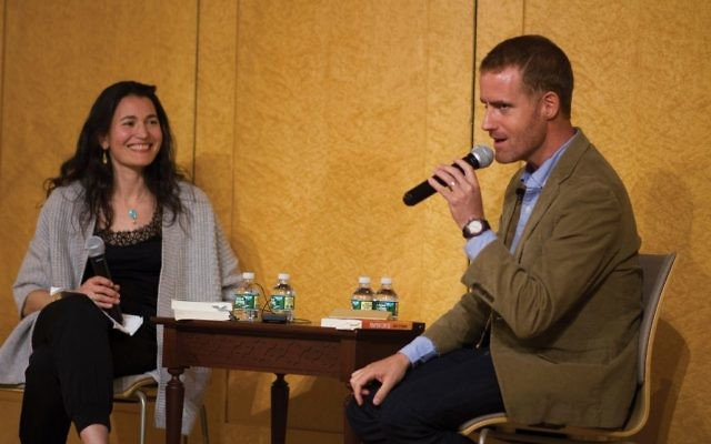Literary dialogue: Authors and friends Nicole Krauss, a novelist, and Matti Friedman, a journalist, interviewed each other at a Jewish Week forum at Central Synagogue last week on the impact Israel has on their writing. Judah S. Harris