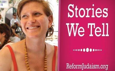 """Judaism starts with narrative,"" says URJ Rabbi Leora Kaye, who hosts the new ""Stories We Tell"" podcast."