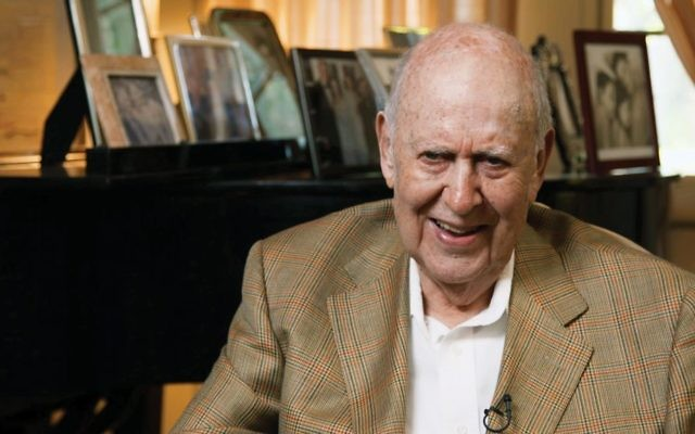 "Carl Reiner in the HBO documentary ""If You're Not in the Obit, Eat Breakfast."" Courtesy of HBO"