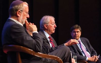 Ambassador Dennis Ross, center, with author Yossi Klein Halevi, left, and UJA-Federation CEO Eric Goldstein, right, at a forum sponsored by The Jewish Week and UJA-Federation at Temple Emanu-El Streicker Center last year. Judah S. Harris