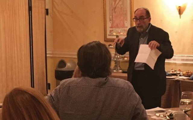 Death awareness expert Simcha Raphael speaking at recent event. Merri Rosenberg/JW