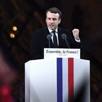 President Emmanuel Macron was the choice of most Jewish voters, but a gulf separates them on several issues. GETTY IMAGES