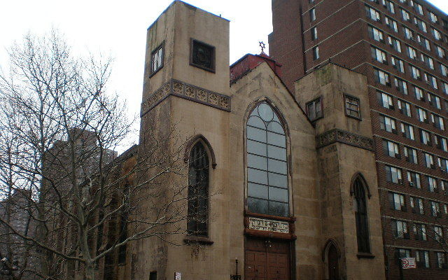The Beth Hamedrash Hagadol synagogue in the LES before the fire. Wikimedia Commons