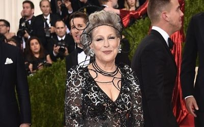 Actress Bette Midler attends the Costume Institute Gala at Metropolitan Museum of Art on May 2, 2016 in New York City. Getty Images