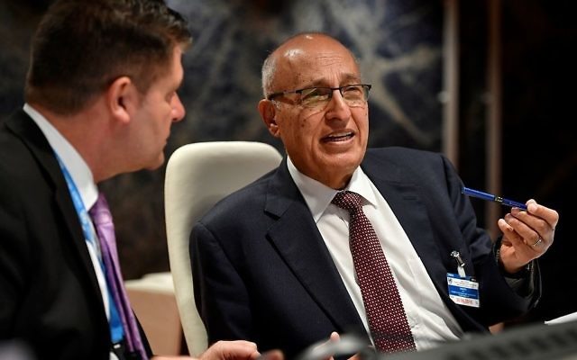 Palestinian official, Nabil Shaath, attends a UN conference on the Israeli and Palestinian peace process on June 29, 2016 at the United Nations offices in Geneva. Getty Images