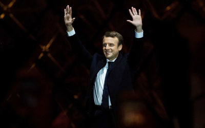 PARIS, FRANCE - MAY 07:  Leader of 'En Marche !' Emmanuel Macron addresses supporters after winning the French Presidential Election, at The Louvre on May 7, 2017 in Paris, France. Pro-EU centrist Macron is the next president of France after defeating far right rival Marine Le Pen by a comfortable margin, estimates indicate.Getty Images