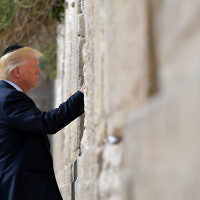 US President Donald Trump visits the Western Wall in Jerusalem on May 22, 2017. Getty Images