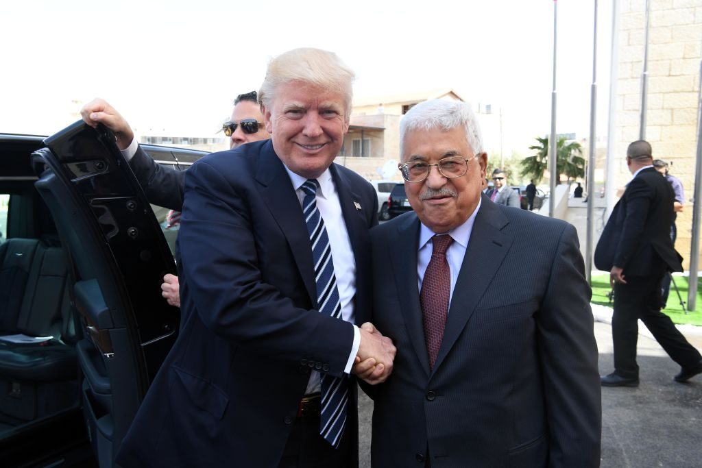 First read for may 23 jewish week palestinian authority president mahmud abbas and us president donald trump greet each other at the presidential m4hsunfo