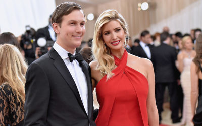 "NEW YORK, NY - MAY 02: Jared Kushner and wife  Ivanka Trump attend the ""Manus x Machina: Fashion In An Age Of Technology"" Costume Institute Gala at Metropolitan Museum of Art on May 2, 2016 in New York City.  (Photo by Mike Coppola/Getty Images for People.com)"