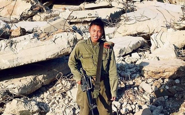 Staff Sgt. Joana Chris Arpon, a solider in the IDF. JTA