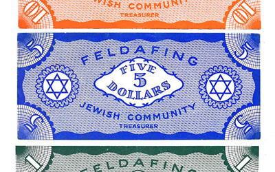 Lot 218 FELDAFING GERMANY JEWISH DISPLACED PERSONS CAMP NOTES [Est. 1000-1200 USD]
