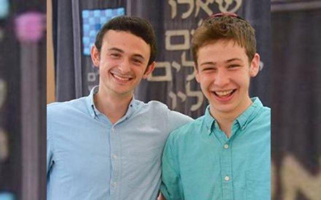 Daniel Zellis (right) and his Madrich, Jed Zaslow (left). Photo courtesy of Daniel Zellis.