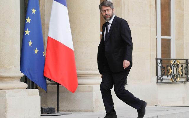 France's chief rabbi, Haim Korsia, arriving at the Elysee Palace in Paris, July 27, 2016. (Geoffroy Van Der Hasselt/Anadolu Agency/Getty Images)
