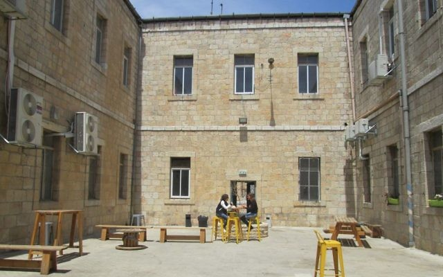 The courtyard of the Alliance House arts center in the heart of Jerusalem hosts large parties.