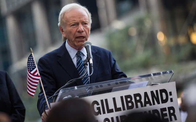 Former Sen. Joe Lieberman in New York, Sept. 1, 2015. JTA