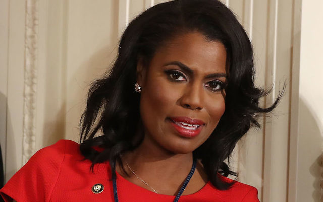 Omarosa Manigault at a White House news conference, Feb. 16, 2017. (Mark Wilson/Getty Images)