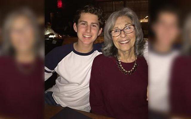 Matt Leonard with his Nana, Sandra Steinman (nee Miller), who imparts her Jewish wisdom. Photo courtesy Matt Leonard.