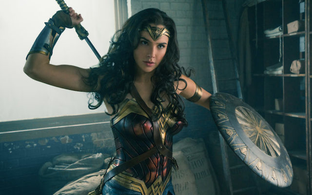 "Israeli actress Gal Gadot in the 2017 film ""Wonder Woman."" JTA"