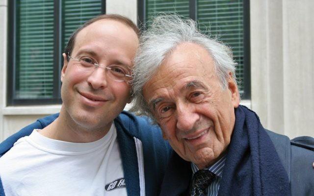 Father and son: Elisha and Eli Wiesel. Courtesy of Elisha Wiesel