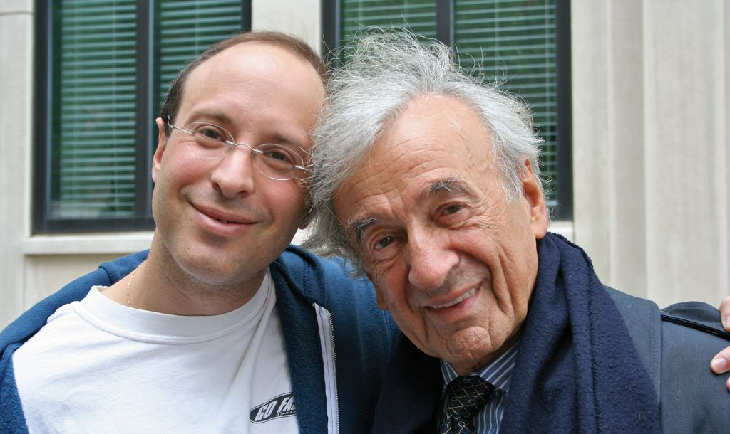 Father and son: Elisha and Eli Wiesel. Courtesy of Elisha Wiesel