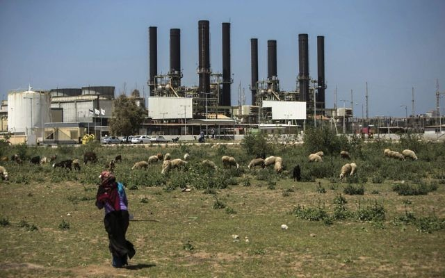 A Gaza power plant. Israel is caught between the PA and Hamas on the electricity issue. Getty Images