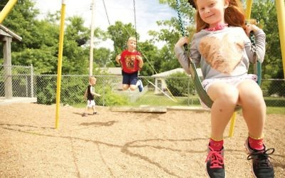 The Supreme Court ruled that Trinity Lutheran Church's playground could not be excluded from the state's resurfacing program on the basis of religion. COURTESY OF ALLIANCE DEFENDING FREEDOM