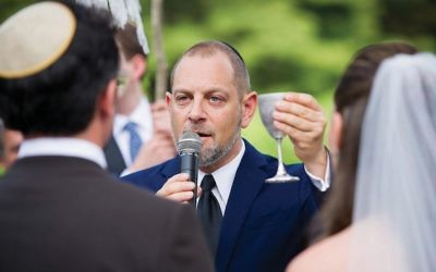 Rabbi Amichai Lau-Lavie, The Lab/Shul founder recently announced a plan to create a new wedding ceremony for mixed couples. Courtesy of Christopher Duggan